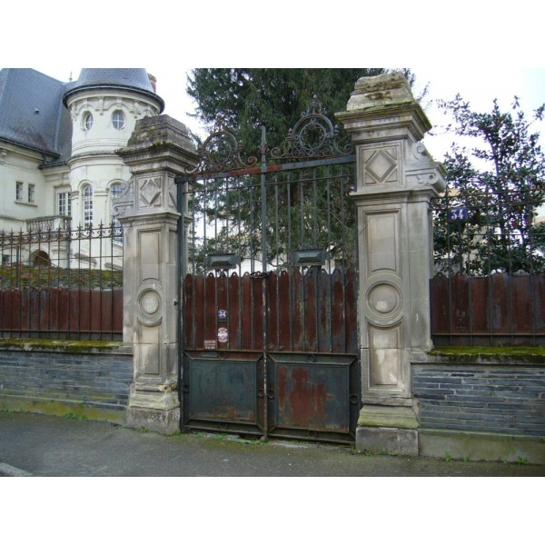 piliers portail pn090 antiquit aubry. Black Bedroom Furniture Sets. Home Design Ideas