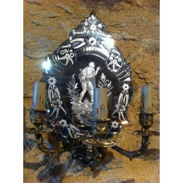 Appliques sur miroirs Vénitiens