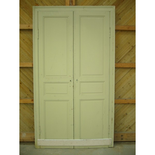 Porte double de placard r f me040 antiquit aubry - Largeur double porte ...