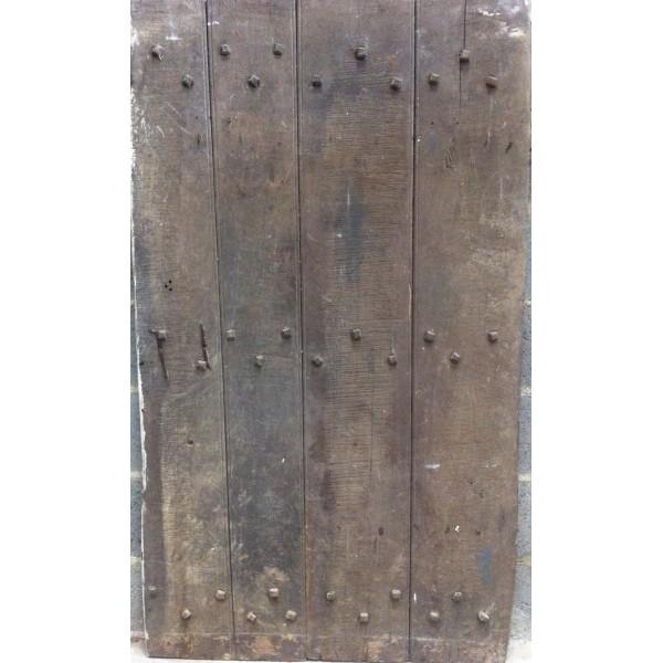 Ancienne porte en ch ne du xviie r f me015 antiquit for Porte en chene